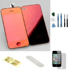 Iphone 4S Complete Color Change Kit (Mirror Red) #http://www.pinterest.com/ordercases/