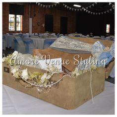 #wedding #decoration #suitcase #postbox
