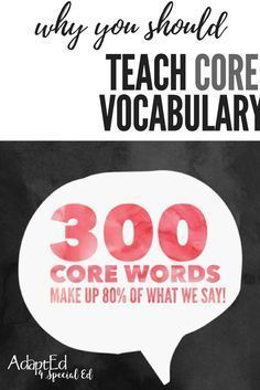 Core vocabulary is very important for minimally and nonverbal students. Here are some ways to use it in your classroom