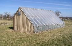 Grow food all year long in a passive solar greenhouse. This one at the University of MO, Columbia does in the middle of Missouri on a hill with harsh winter winds. The link provides materials lists and performance info.
