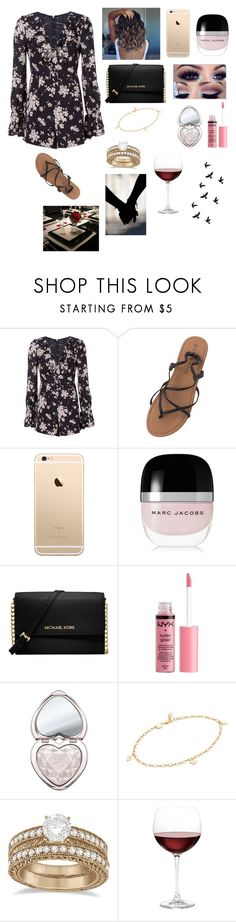"""Dinner Date🍴❤️"" by amarianamichelle ❤ liked on Polyvore featuring Exclusive for Intermix, Billabong, Marc Jacobs, Michael Kors, Charlotte Russe, Too Faced Cosmetics, Jennifer Zeuner, Allurez and Nordstrom"
