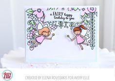Avery Elle: A Fairy Happy Birthday Canopy Card by Elena Roussakis.
