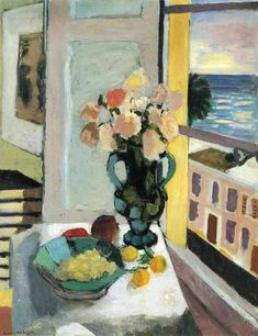 Henri Matisse Flowers in Front of a Window 1922 print for sale. Shop for Henri Matisse Flowers in Front of a Window 1922 painting and frame at discount price, ships in 24 hours. Henri Matisse, Matisse Art, Matisse Paintings, Paintings I Love, Indian Paintings, Post Impressionism, Love Art, Painting Inspiration, Modern Art
