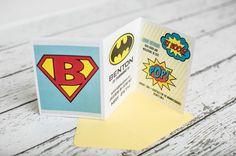 Superhero 1st Birthday Party - 15 invitations