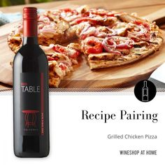An easygoing recipe for Grilled Chicken Pizza pairs perfectly with the ever-popular Table Red Wine, with flavors and aromas of blackberry, plum, cherry & chocolate. http://wsah.org/395t