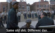 Morgan Freeman in The Shawshank Redemption 1994 Best Movie Quotes, Tv Show Quotes, Film Quotes, Song Quotes, Edward Cullen, Love Movie, Movie Tv, Shawshank Redemption Quotes, One Liner Quotes