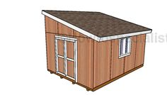 12×16 Lean to Shed Plans