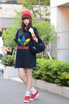 ストリートスナップ [豊岡渚] | adidas, アディダス | 原宿 | Fashionsnap.com