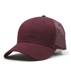 1403a8dbd8480 Classic Cotton Twill Low Profile Mesh Adjustable Snapback Baseball Cap