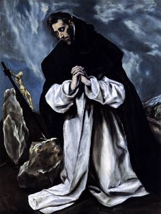 "El Greco: ""St. Dominic in Prayer"",1588. (Private Collection)"