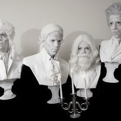 Such a creative #halloween group #costume idea!  Composer Bust Statue Costumes by David and Dors  ||  via Instructables