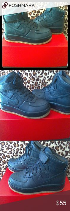Nike AF1 Upstep Hi Pinnacle Dark Blue Hi top basketball sneakers perfect for that summer game or just looking hot with skinny jeans. brand new Nike Shoes Sneakers