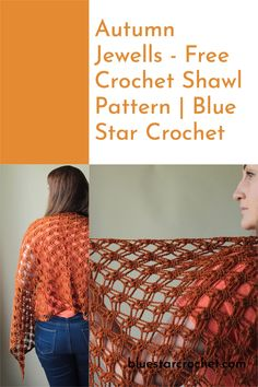 Free crochet shawl pattern that will be perfect as an autumn/fall accessory. This stunning crochet lacy shawl uses a lovely soft yarn and open lacy stitches to create a beautifully large rectangular shawl. Crochet Fall, Free Crochet, Shawl Patterns, Crochet Patterns, Modern Crochet, Knit Picks, Yarn Shop, Autumn Fall, Stitches
