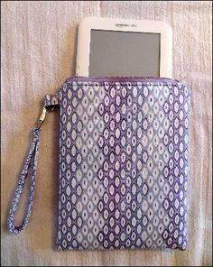 Sew E-Reader Case. Not the design I want, but a lot of good sewing tips in here!