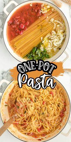 one pot meals pasta ~ one pot meals . one pot meals healthy . one pot meals vegetarian . one pot meals chicken . one pot meals easy . one pot meals beef . one pot meals pasta . one pot meals videos Easy Pasta Recipes, Easy Dinner Recipes, Chicken Recipes, Easy Pasta Dinners, One Pot Recipes, Shrimp Pasta Recipes, Skillet Recipes, Beef Recipes, One Pot Dinners