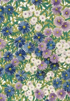 Warner Textile Archive - Michaelmas Daisy, hand-painted paper design from 1929