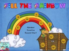 Fill the Rainbow letter incentive charts (uppercase, lowercase, and letters sounds) - Get your kiddos motivated to learn those important letters!
