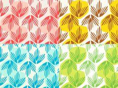 Hand Printed Fabric Metre of Frond - Sarah Waterhouse