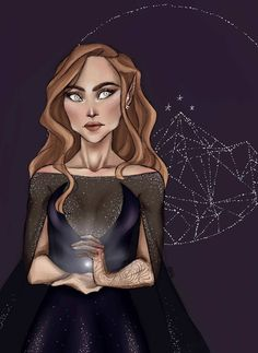High Lady of the night court art by flaviedub