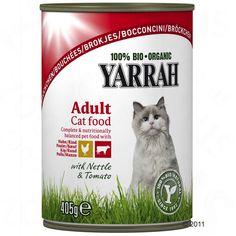 Animalerie  Yarrah Bio 6 x 405 g pour chat  poulet en sauce