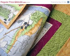 SALE Four Seasons Little Lamb Baby Quilt Toddler by Jambearies, $54.00