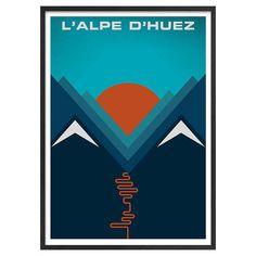 BuyJeremy Harnell - L'Alpe d'Huez Framed Print, 74 x 53cm Online at johnlewis.com