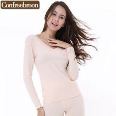 Women Warm Thermal Underwear Woman Long Johns Long Sleeve Thermal Clothing Undersets