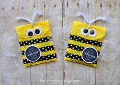 Since the school year is almost over you might be starting to think about fun teacher appreciation gifts to give to your child's teacher to say thank you for a great year. I was looking at some fun yellow party favor bags in my craft closet and decided they would be perfect for holding candy …