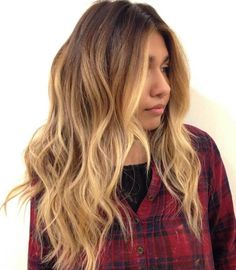 Layered Caramel Balayage Hair