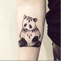 Adorable Plush Panda Tattoo Designs ❖❖❖ #adorable #designs #panda #plush #tattoo ❖❖❖ Pandas are unquestionably the most adorable animal in the world. Have you seen a cub panda just roll on the floor and nobody cares? It's the most beautiful thing ever. Giant pandas are considered as symbols of peace and love for nature. A panda landed even as the iconic logo for the World Wildlife Fund (WWF), which aims to protect animals a...