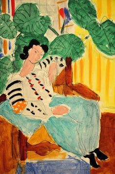Henri Matisse - Small Rumanian Blouse with Foliage at Baltimore Art Museum Henri Matisse - Small Rumanian Blouse with Foliage, 1937 Henri Matisse, Matisse Kunst, Matisse Art, Art And Illustration, Pablo Picasso, Painting & Drawing, Watercolor Paintings, Watercolor Artists, Painting Lessons