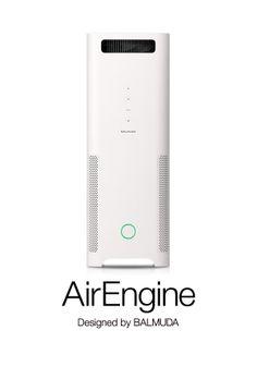 BALMUDA AirEngine   これまでで、最も強力に空気を吸引する空気清浄機。