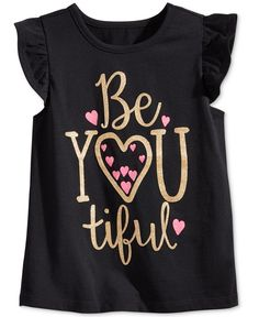 Epic Threads Little Girls' Flutter-Sleeve Graphic-Print T-Shirt, Only at Macy's