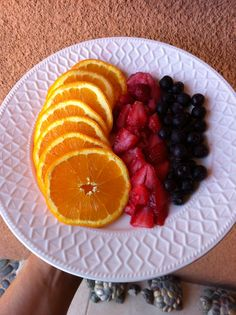 Naranja, fresa y Mora azul