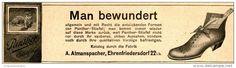 Original-Werbung/Inserat/ Anzeige 1912 - PANTHER STIEFEL / ATMANSPACHER EHRENFRIEDERSDORF - ca. 180 x 55 mm
