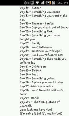 100 days Instagram Challenge, Instagram Ideas, Todays Weather, Weather Day, Photography Challenge, Photography Photos, 30 Days Photo Challenge, Happiness Challenge, 100 Happy Days