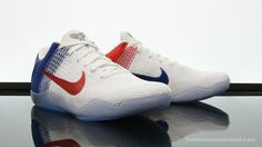 8cbee95631d Photos and release date for the upcoming Nike Kobe 11 Elite Low USA (color   White University Red-Deep Royal Blue-Metallic Silver