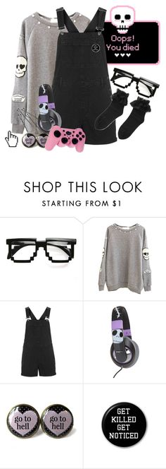 """Let's play"" by bandaidkid ❤ liked on Polyvore featuring Topshop, Burton, Microsoft, cute, pastelgoth, kawaii and harajuku"