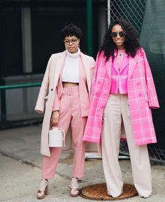 Shades of Pink, Street Style Fashion Weeks, Fashion Outfits, Fashion Trends, Black Women Fashion, Womens Fashion, Pink Fashion, Pull, Boho, Runway