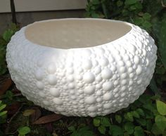 Planter sea urchin shell ceramic beach decor round by muddyme