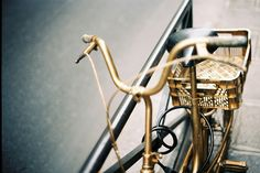 golden bycicle