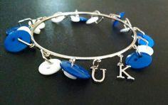 UK  button and charm bracelet!