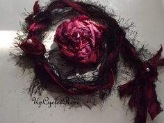 Upcycled Rose Gypsy Ponytail Bohemian Hair by UpcycledRose on Etsy, $22.50