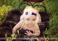 @Amber Wyatt Flower Headbands Infant Headbands Purple White by MayaJAccessories, $10.95