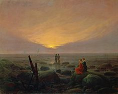 Caspar David Friedrich - Mondaufgang am Meer Caspar David Friedrich Paintings, Artist Canvas, Canvas Art, Canvas Size, Painting Prints, Art Prints, Moon Rise, Pablo Picasso, Impressionism