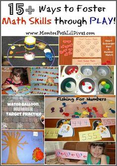 Mom to 2 Posh Lil Divas: Fostering Kindergarten Math Skills Through Play {Get Ready for K Through Play}