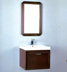 "WV21 Fairmont Caprice 21"" Wall Mount Vanity and Sink Set - Espresso"