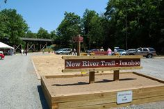 New River Trail State Park opens its newest parking lot in Ivanhoe, Virginia.