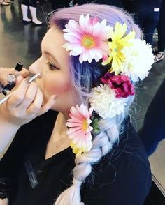 Hair by myself �� Part of makeup also done by myself ������ #aprilshowersbringmayflowers #pmtswichita #cosmetology #fab #flowers #boho http://tipsrazzi.com/ipost/1511157456670435986/?code=BT4tbNMhiqS