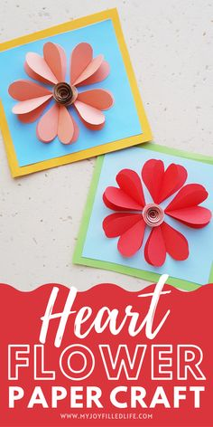 Your kids will enjoy making this craft to give to a loved one! Turn it into a card to make this craft even more special. Get the instructions and template at My Joy-Filled Life. Spring Crafts For Kids, Holiday Crafts For Kids, Craft Projects For Kids, Paper Crafts For Kids, Craft Activities For Kids, Summer Crafts, Preschool Crafts, Craft Ideas, Rainy Day Crafts